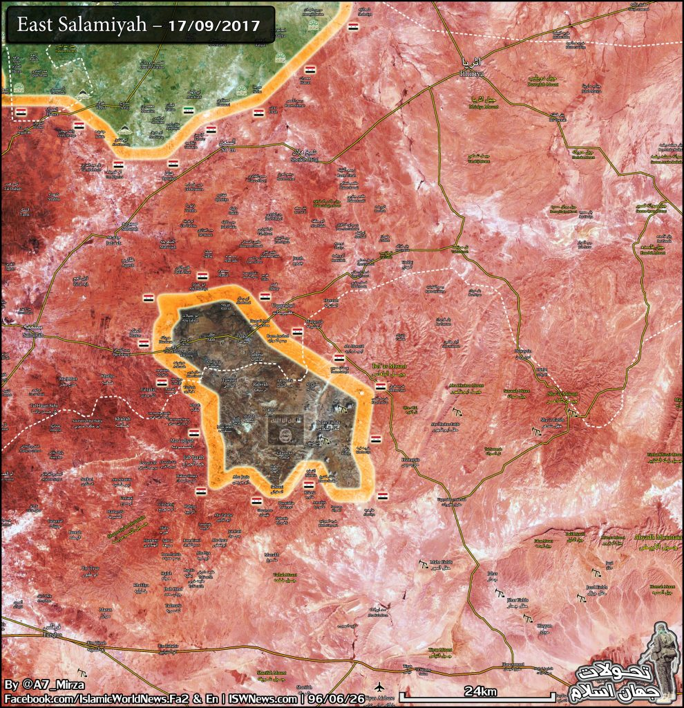 Government Troops Liberated 12 Villages East Of Salamiyah From ISIS Last Week (Map)