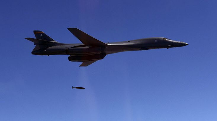 """In """"Warning To Pyongyang"""", B-1B Bombers, F-35s Hold Mock Bombing Drills"""