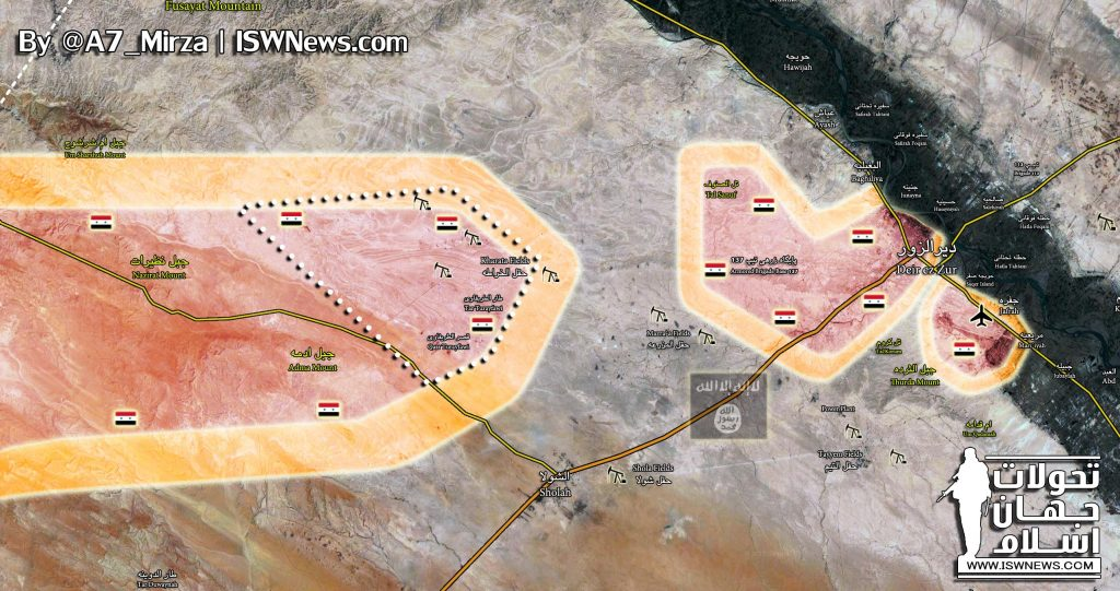 Tiger Forces Enter Kharata Fields Area, Deploy In Only About 20km From Deir Ezzor City (Map)
