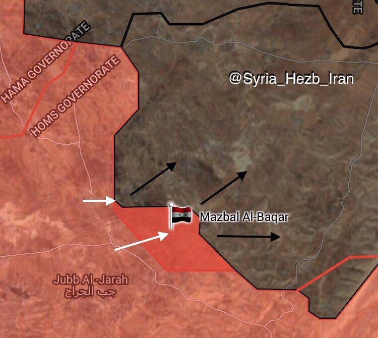 Syrian Army Liberates Mazbal al-Baqar Village In Eastern Homs (Map)