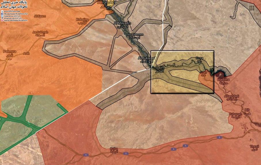 イラク軍、ISISの国境にあるアルカイムの拠点であるアナ・タウン・ウェストを包囲