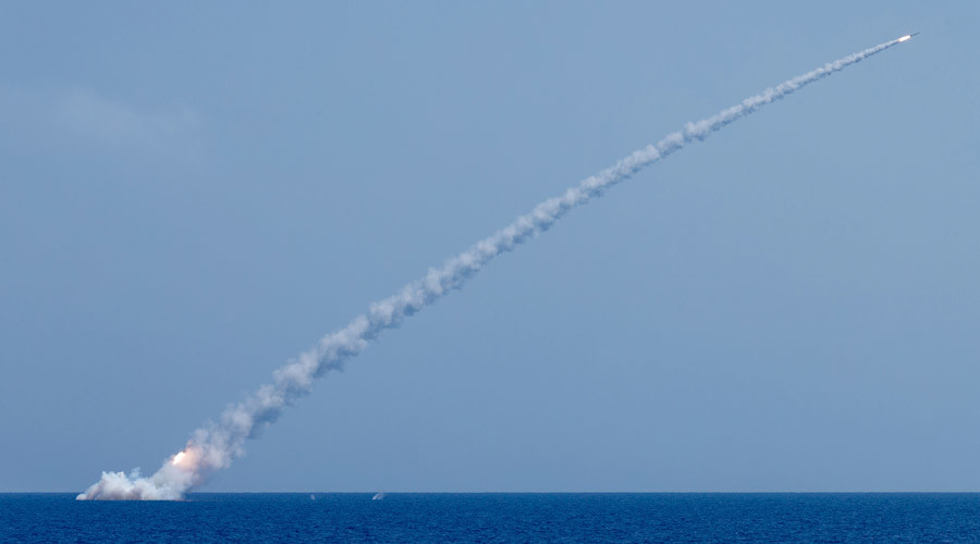 Russian Sumbarine Launches Cruise Missiles On Terrorist Targets In Syria's Idlib Province