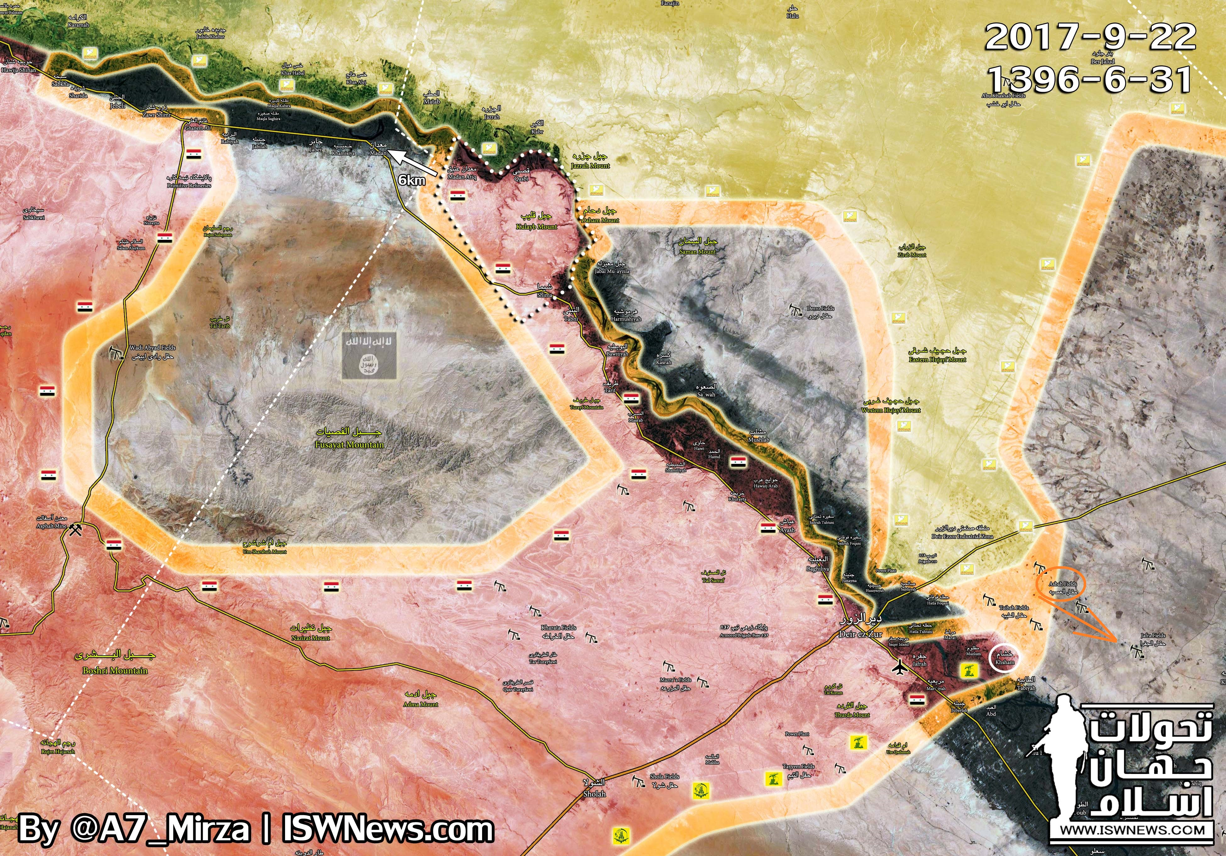 Us Backed Forces Push For Another Oil Field While Isis Attacks Syrian Army Near Deir Ezzor