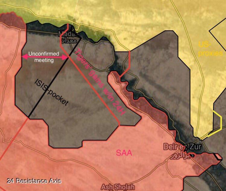 シリア陸軍虎は、ISISから戦略的なマダンタウンを再獲得する