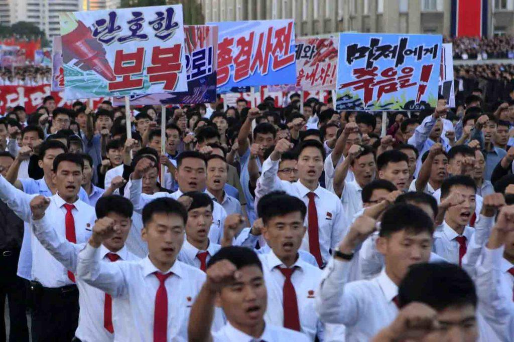 "Trump Threatens ""Little Rocket Man"", Says Kim ""Won't Be Around Much Longer"" As North Korea Holds Huge Anti-US Rally"