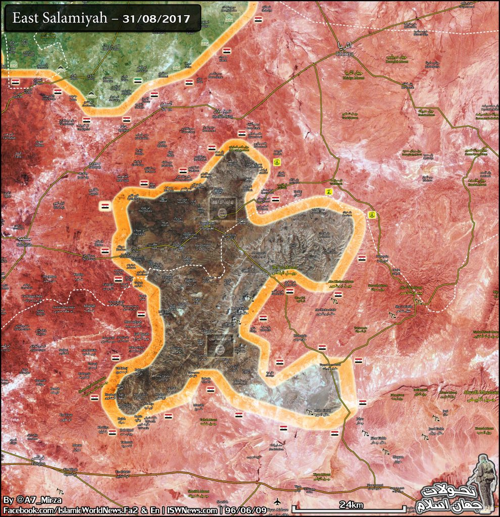 Map Update: Military Situation In Eastern Salamiyah Countryside