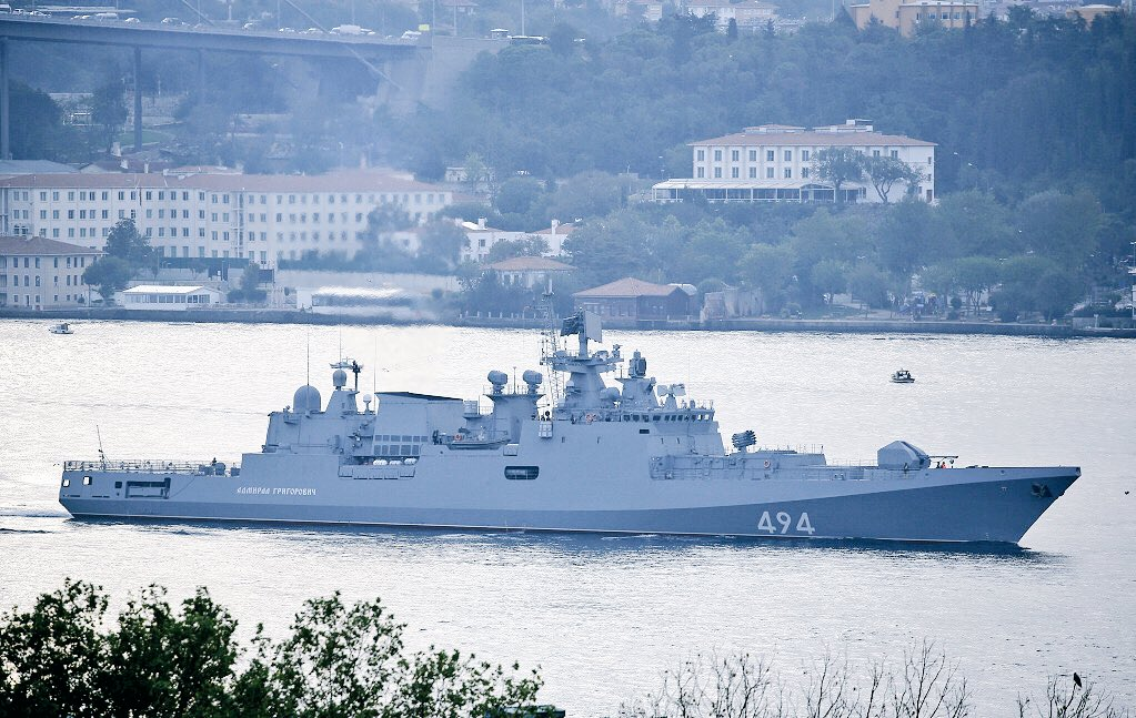 Russia's Frigate Armed With Kalibr Cruise Missiles Heads To Mediterranean