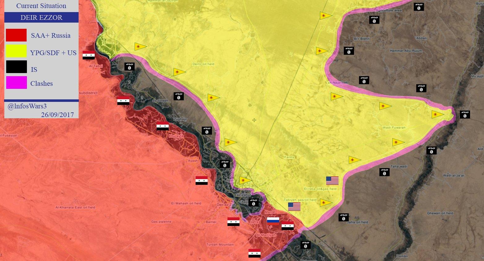Of Battle For Deir Ezzor On Septemer 26 2017 Map Videos