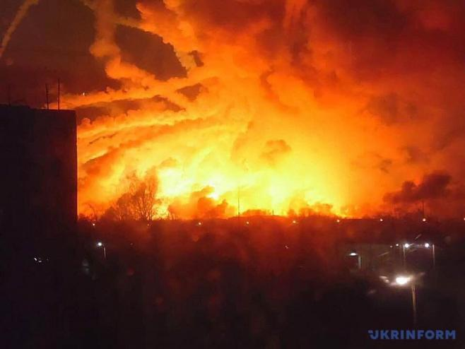 Major Munition Depot On Fire In Ukraine, Sabotage Not Ruled Out (Videos, Photos)
