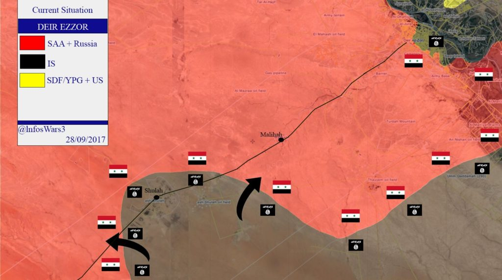 Syrian Army Retreats From Shulah Village On Deir Ezzor-Palmyra Highway (Map)