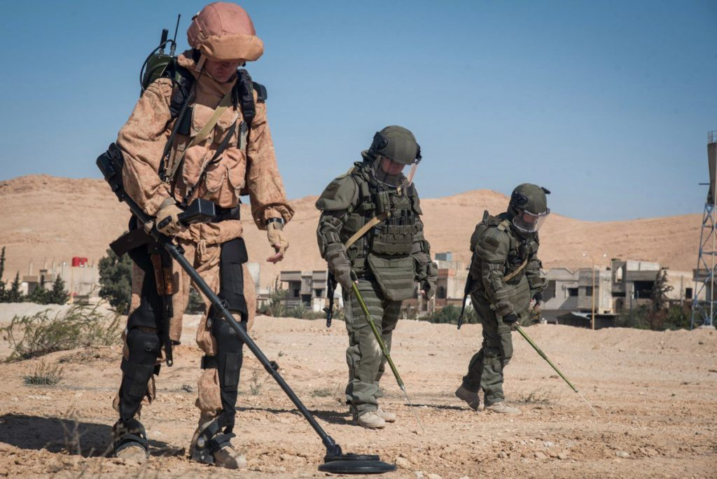 170 Russian Sappers De-Mining Syria's Deir Ezzor City