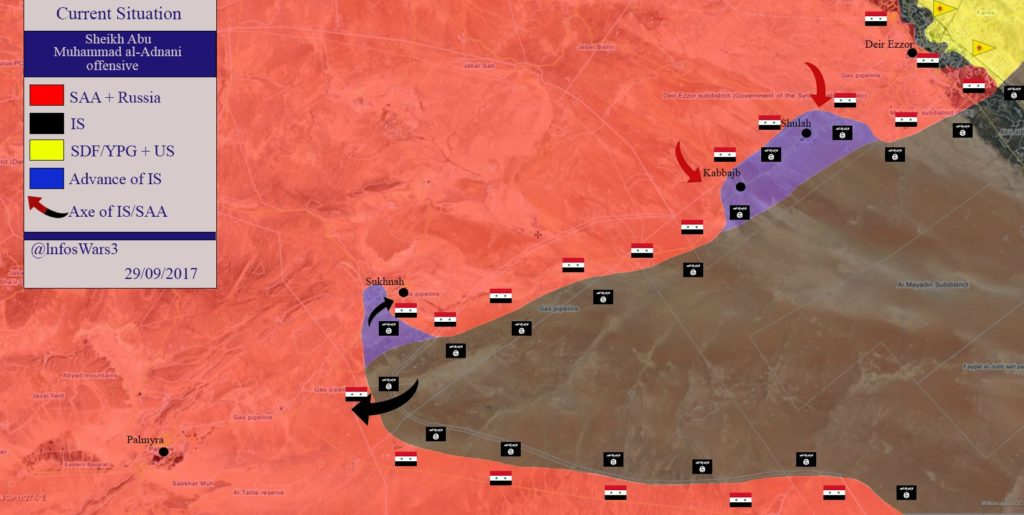 Overview Of Battle For Deir Ezzor On September 28-29, 2017 (Maps, Videos)
