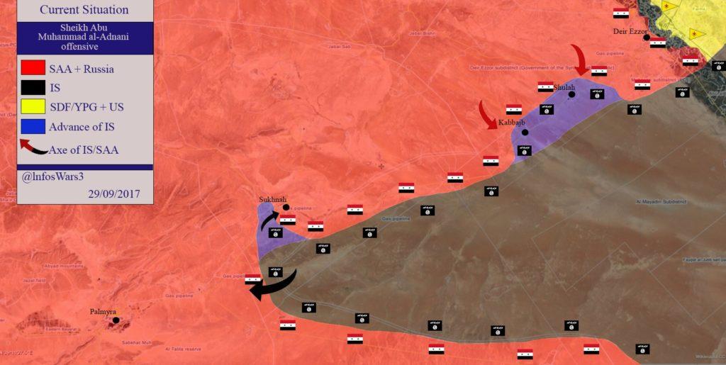 Overview Of Battle For Deir Ezzor On September 28-29, 2017 (Maps, Videos)