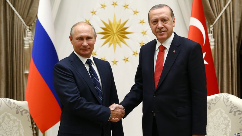 Putin and Erdogan Discuss Sochi Conference And Desolation Zone In Syria's Idlib