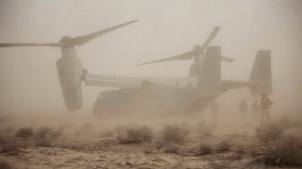 U.S. V-22 Osprey Crashed In Syria. Two Service Members Suffered Injures