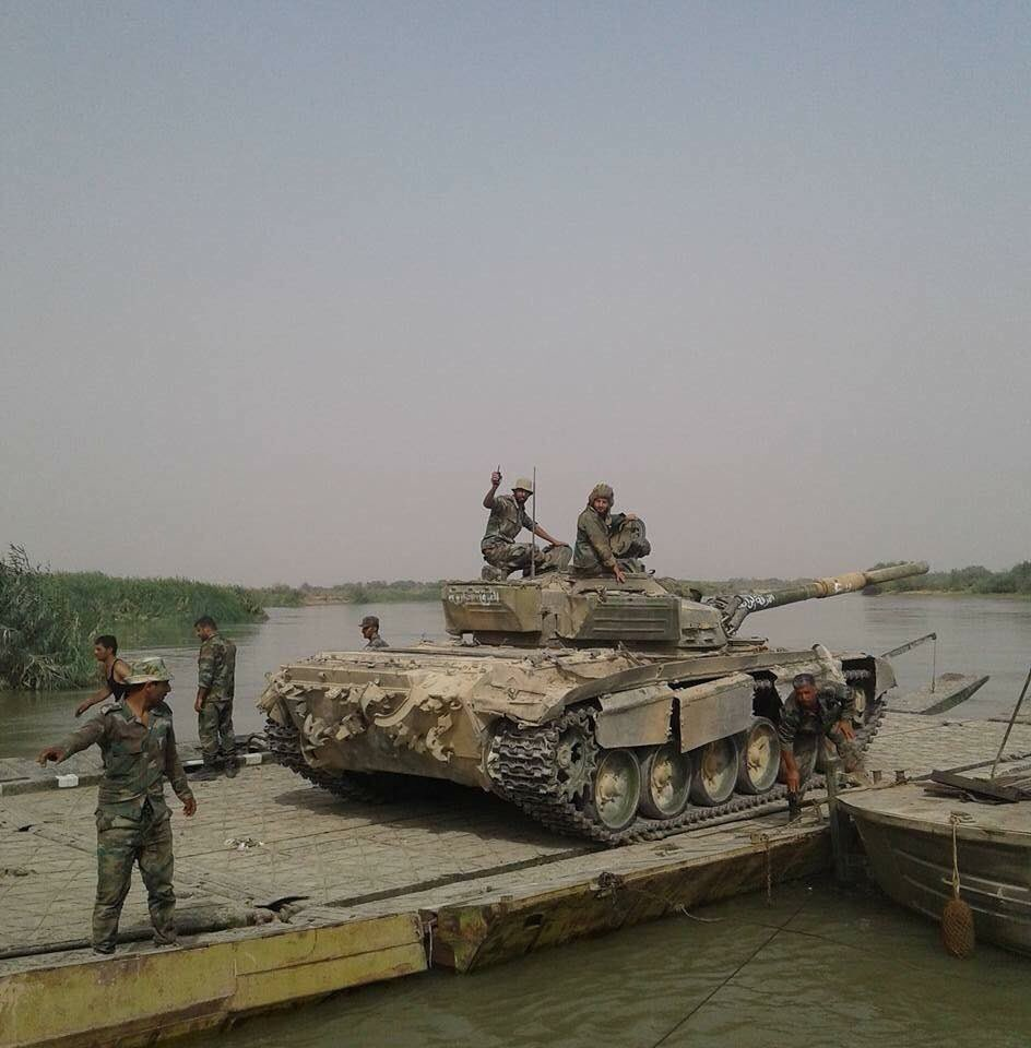 Photos: Syrian Arab Army 4th Armoured Division Crossing Euphrates