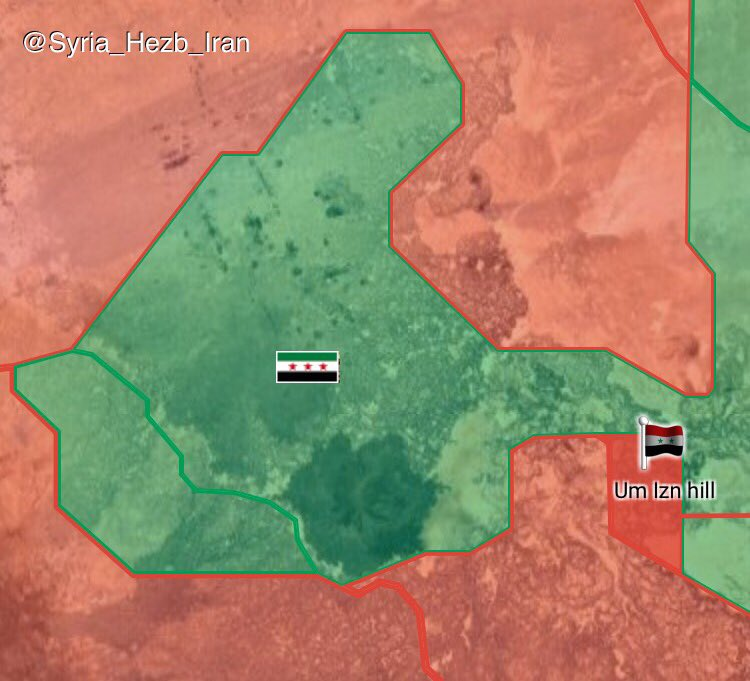 Government Troops Liberate 135km2 In Southeastern Syria (Map)