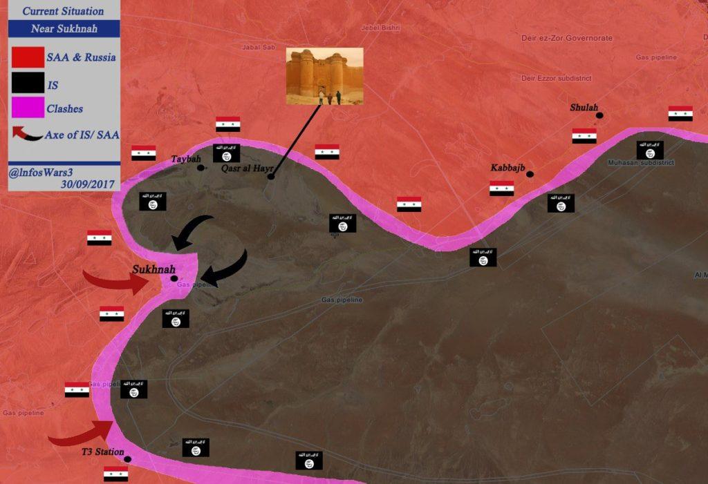 Overview Of Battle For Deir Ezzor On September 30, 2017 (Maps)