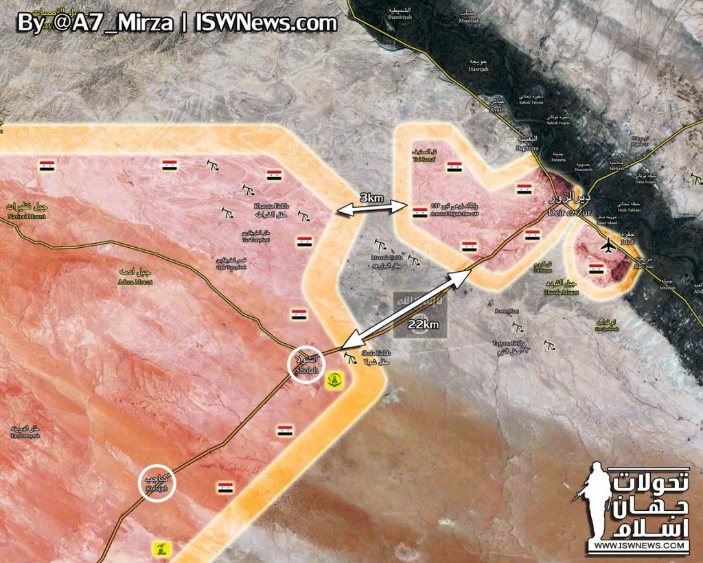 Government Forces Repel ISIS Counter-Attack Near Deir Ezzor, Secure Sholah Area (Maps)