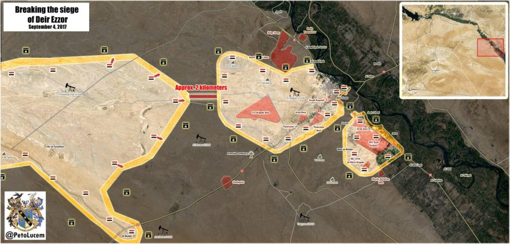 Syrian Army, Russian Attack Helicopters Destroyed 18 ISIS VBIEDs During Monday Clashes With ISIS Near Deir Ezzor