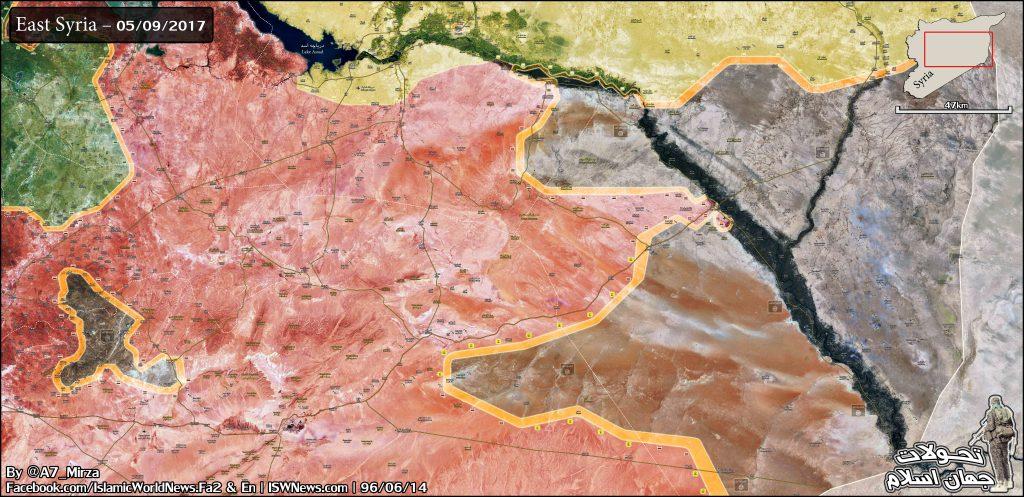 Overview Of Battle For Deir Ezzor City On September 6, 2017 (Map)