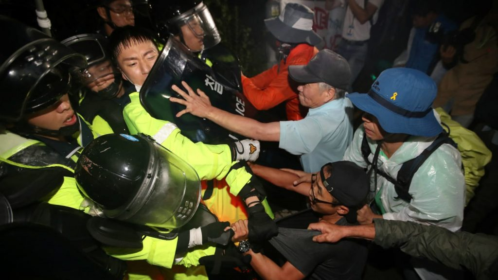 Violent Protests Erupt In S. Korea As Country Deploys Additional THAAD Launchers