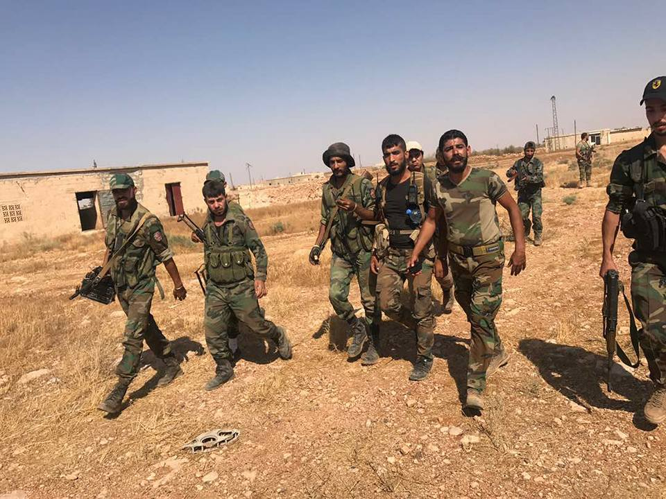Photos: Syrian Government Forces In Salbah Electricity Station In Eastern Hama