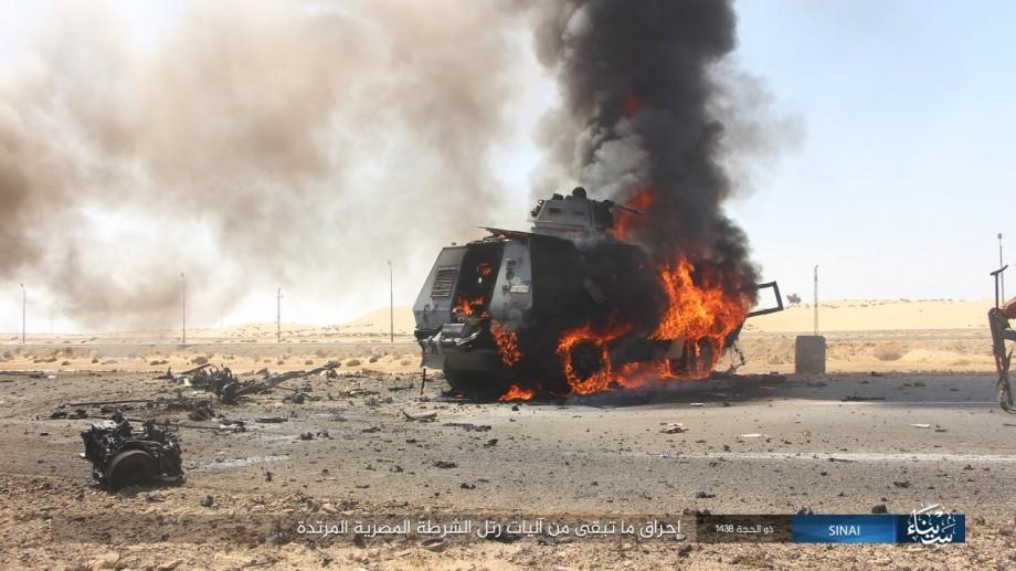 In Photos: ISIS Ambushes Egyptian Military Column In North Sinai