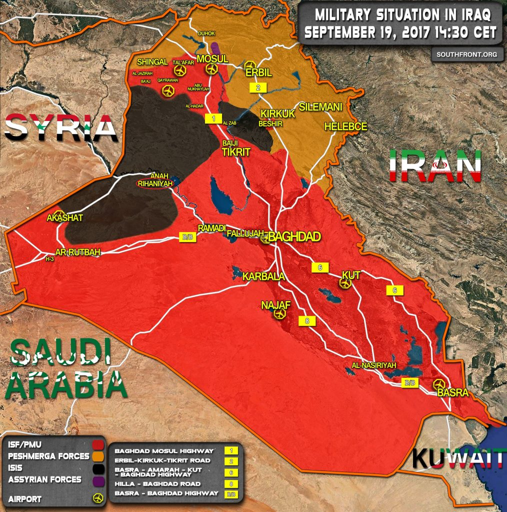 Iraqi Forces Liberated Rayhannah Town On Deir Ezzor-Baghdad Highway (Map)