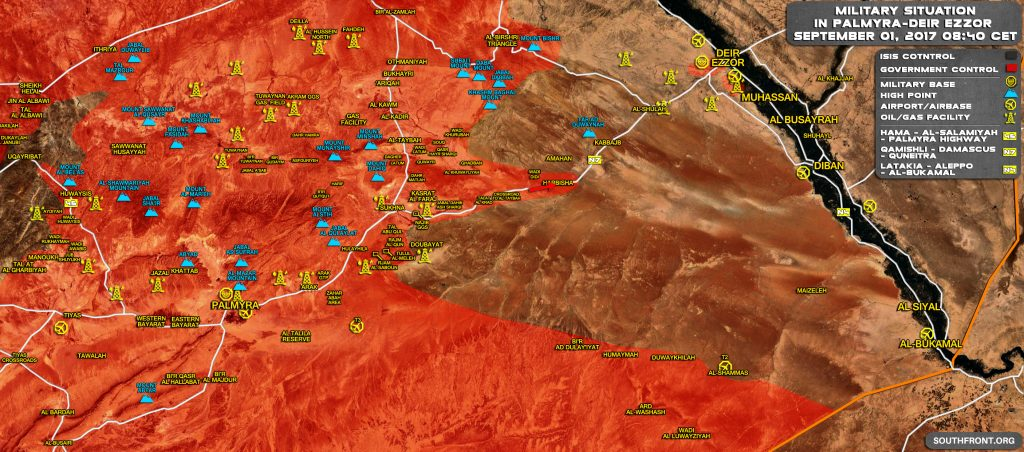 Government Forces Make Large Gains Against ISIS In Central Syria, Setting Ground For Final Push To Deir Ezzor (Map)