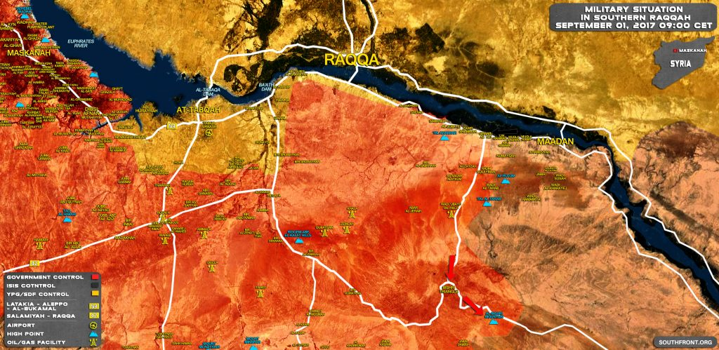ISIS Actions In Southern Raqqah Pose Threat To Government Advance Along Palmyra-Deir Ezzor HIghway (Maps)