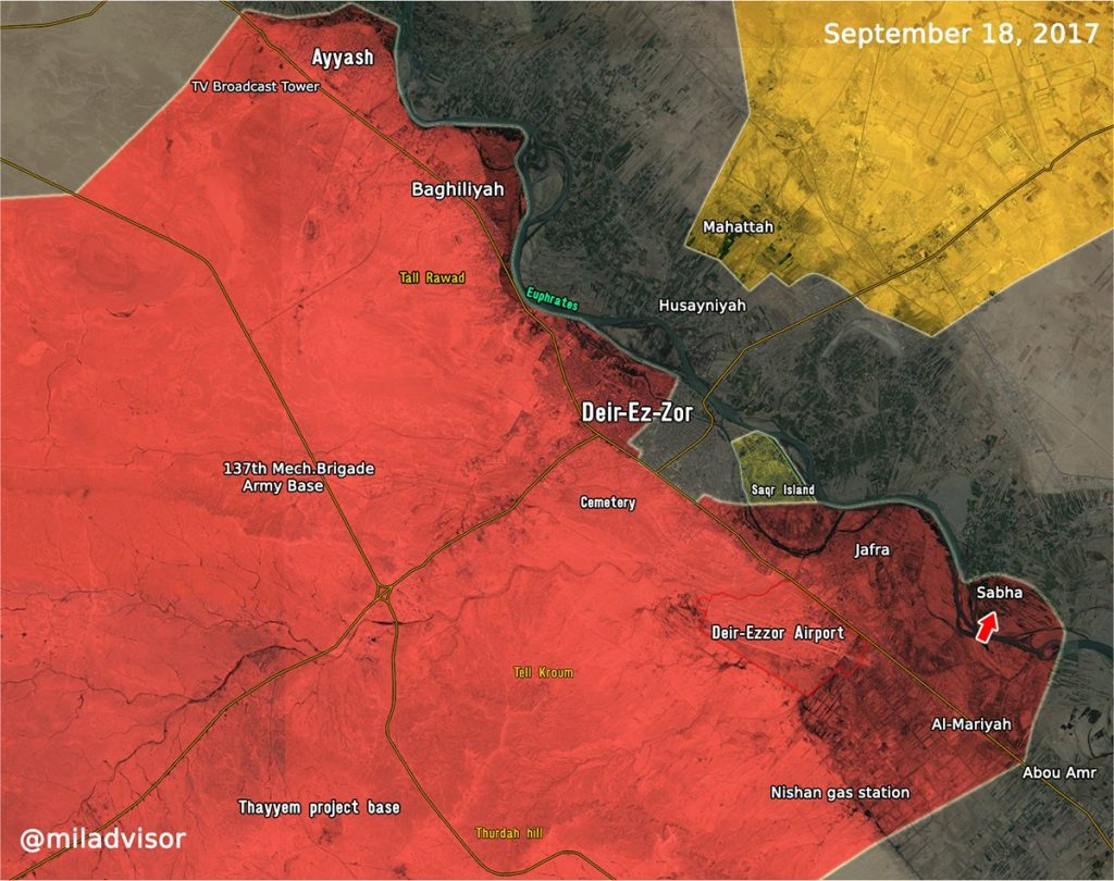 Overview Of Battle For Deir Ezzor On September 18, 2017 (Evening)