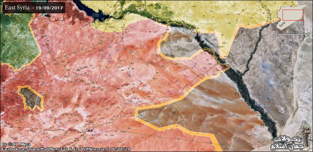 Map Update: Military Situation In Central Syria As Government Forces Push Against ISIS In Deir Ezzor