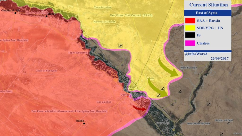 Maps: Military Situation In Deir Ezzor Countryside Following Syrian Army Advance On Maadan