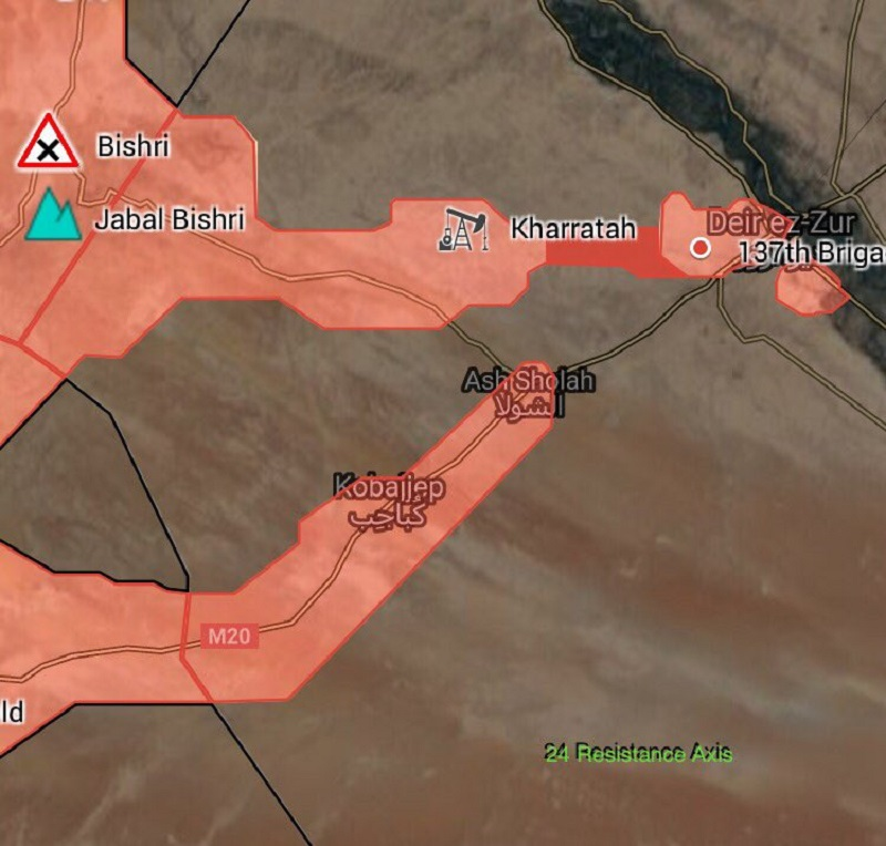 Military Situation In Deir Ezzor Area Following Lifting Of ISIS Siege From Strategic City (Map)