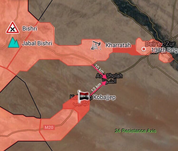 Fierce Fighting Near Deir Ezzor: Army Seizes Kobajjep. ISIS Claims Destroying Of 8 Vehicles