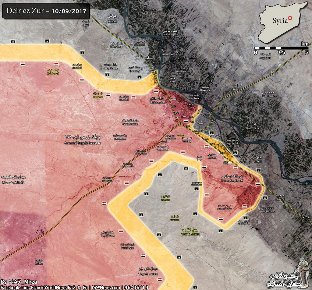 Military Situation In Deir Ezzor Countryside Following Syrian Army Advances Against ISIS (Maps)