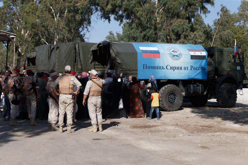 Russian Service Members Provide Humanitarian Aid In Syria's Dar al-Kabirah (Photo Report)