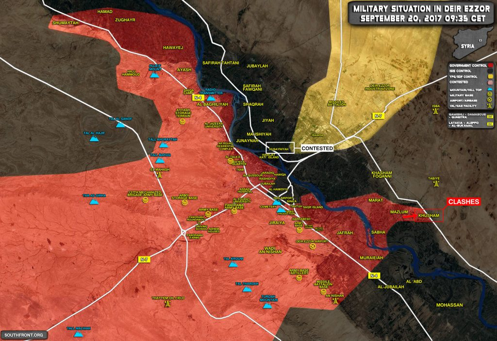 Overview Of Battle For Deir Ezzor On September 19-20, 2017 (Map)