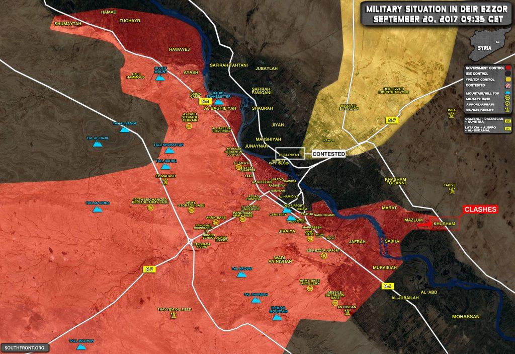 Overview Of Battle For Deir Ezzor On September 19-20, 2017 (Map)
