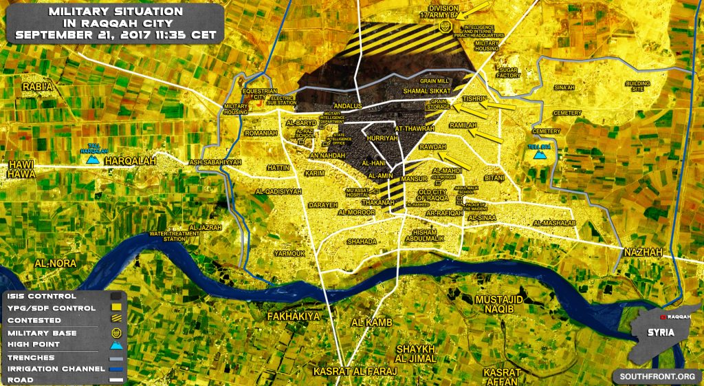 US-backed Forces Took Full Control Over 3 Neighborhoods Of Raqqah (Map)