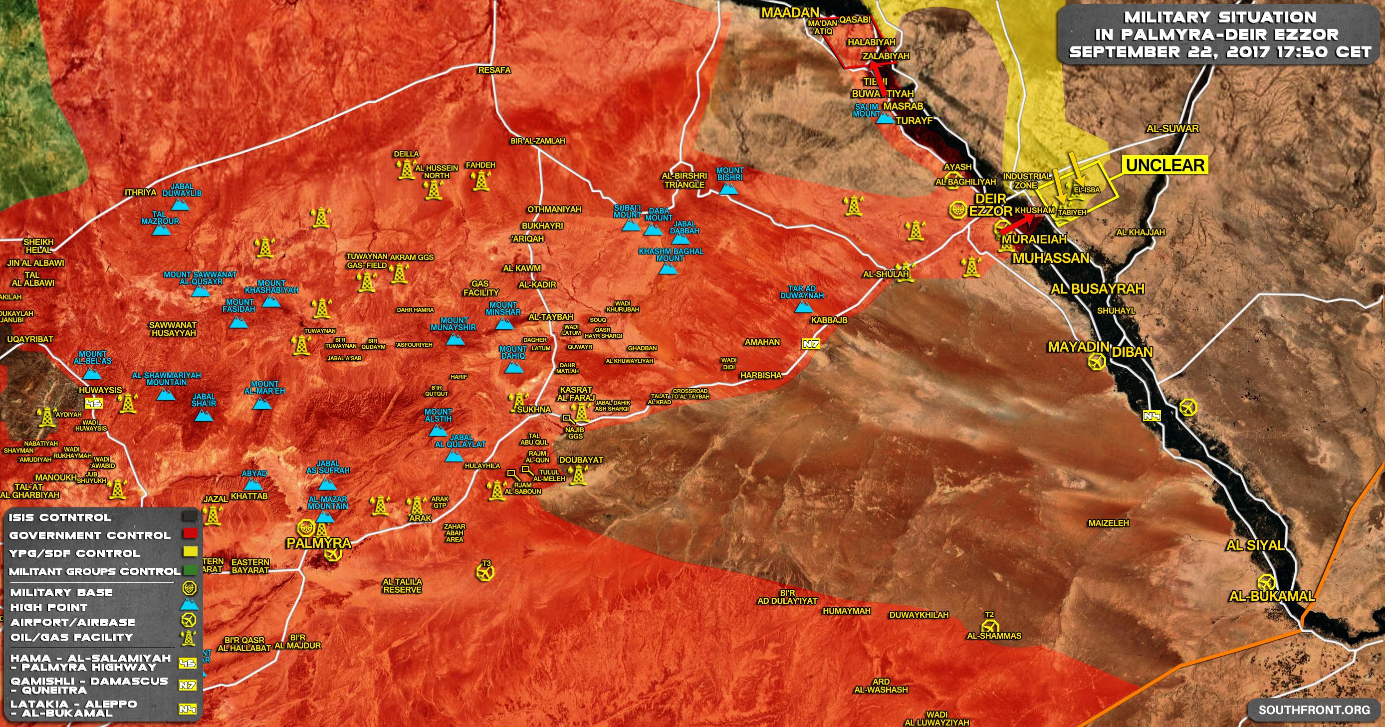 Of Battle For Deir Ezzor On September 22 2017 Evening