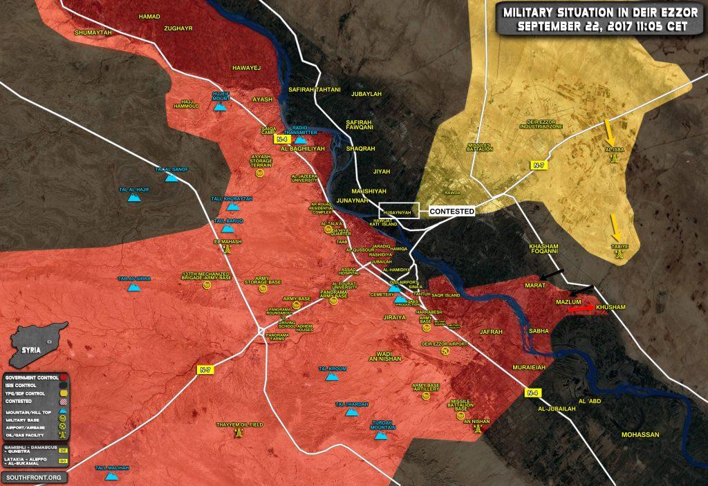 Overview Of Battle For Deir Ezzor On September 21-22, 2017 (Map, Video)