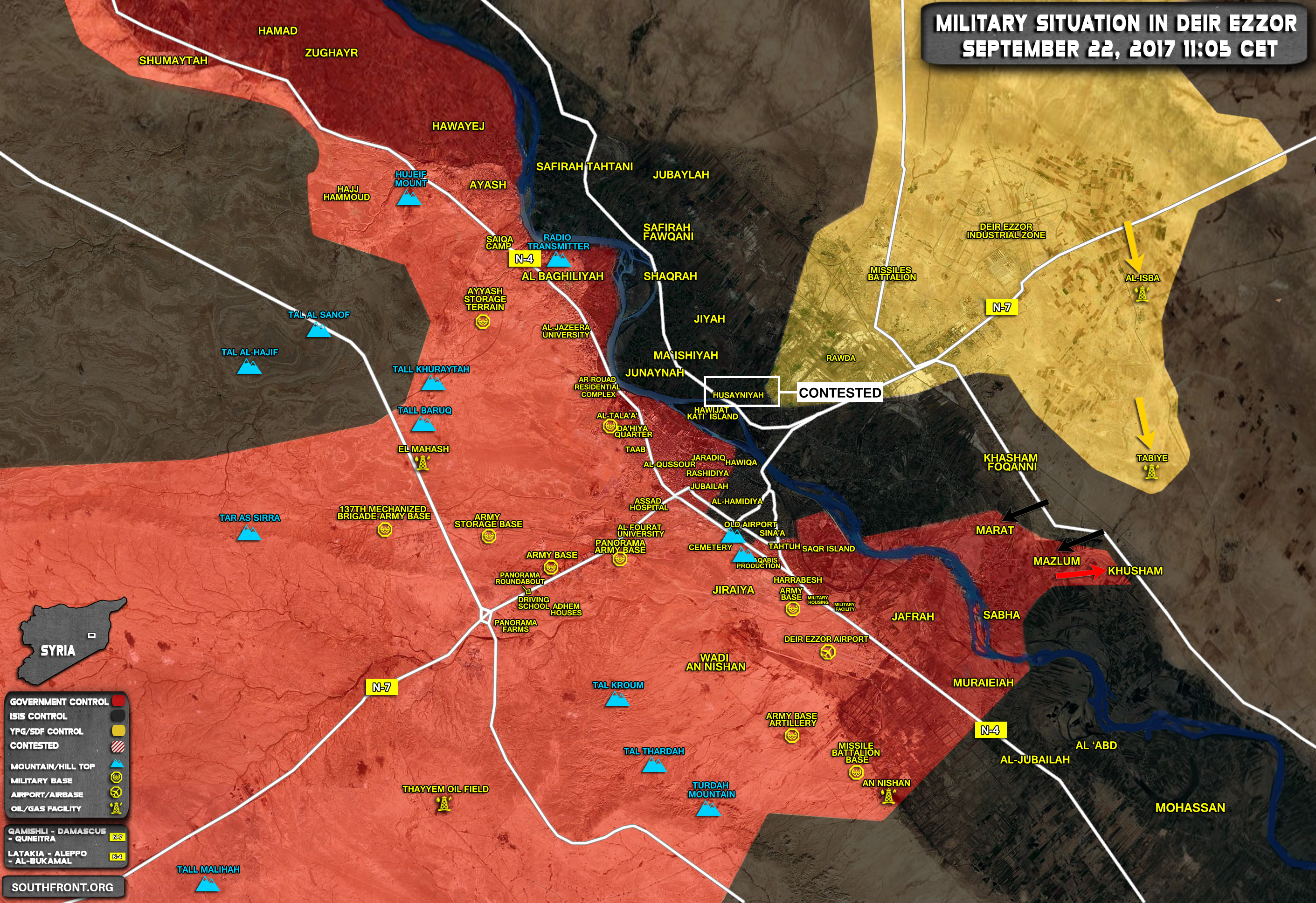 Of Battle For Deir Ezzor On September 2122 2017 Map Video