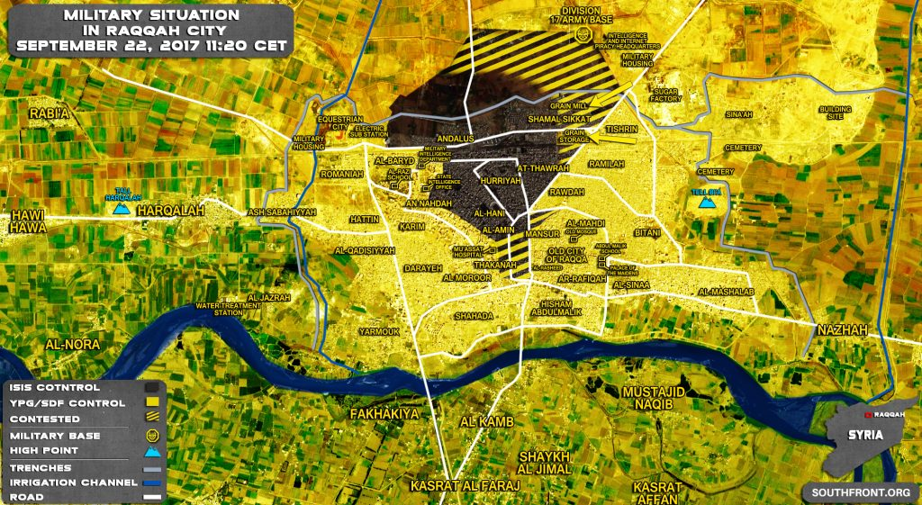 US-backed SDF Advances On Grain Mill In Syria's Raqqah City (Map)