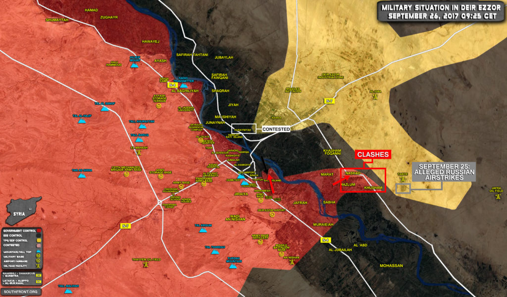 Syrian Government Forces Expand Control Over Eastern Bank Of Euphrates (Map)