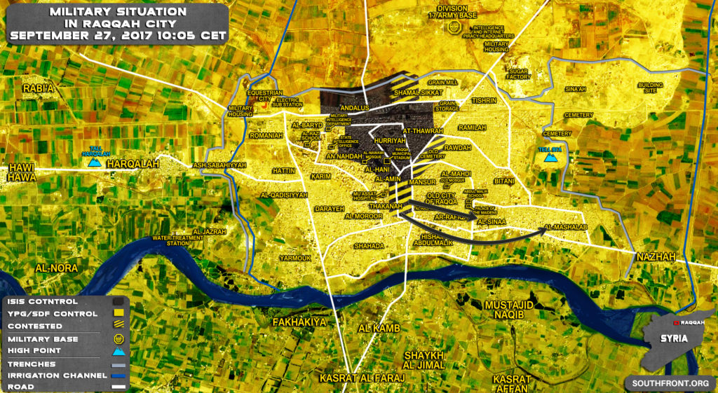 US-backed Forces Repel ISIS Attack In Raqqah, Kill 40 Militants (Map)