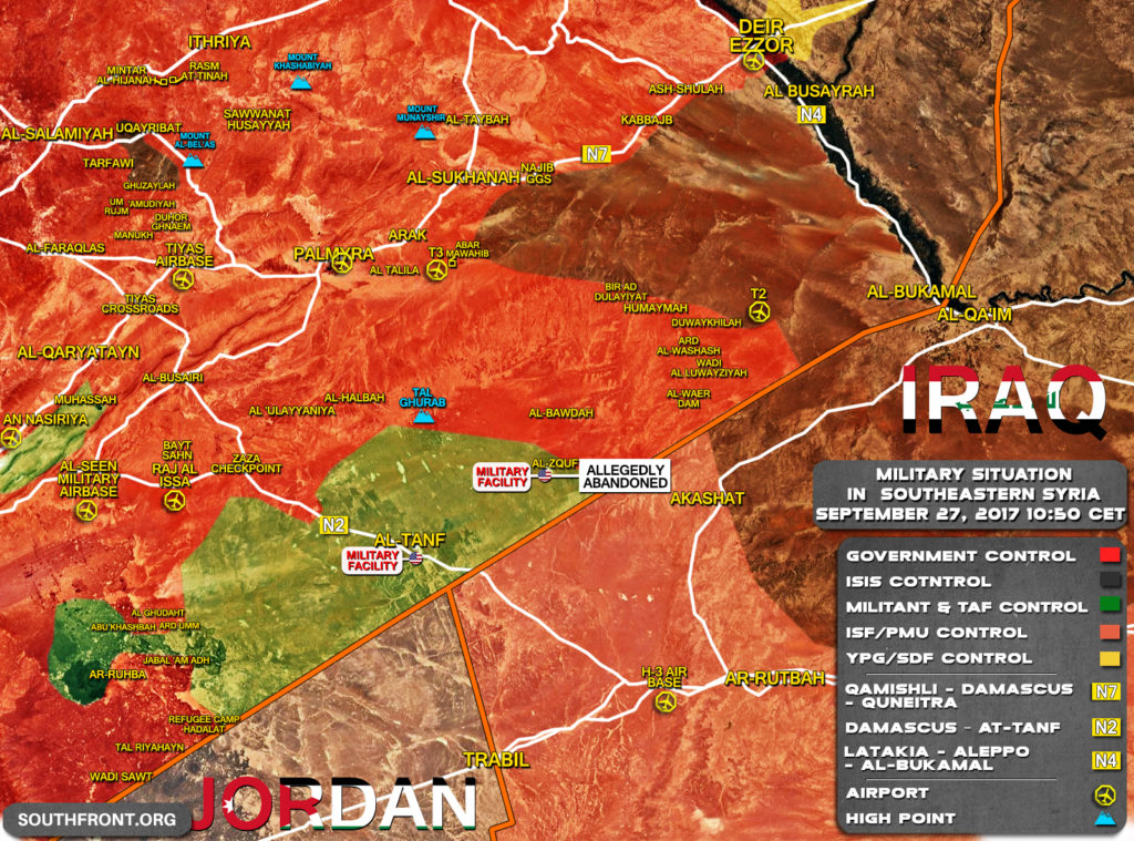 Intense Fighting Ongoing Between Syrian Forces And ISIS Near T2 Pumping Station (Map, Video)