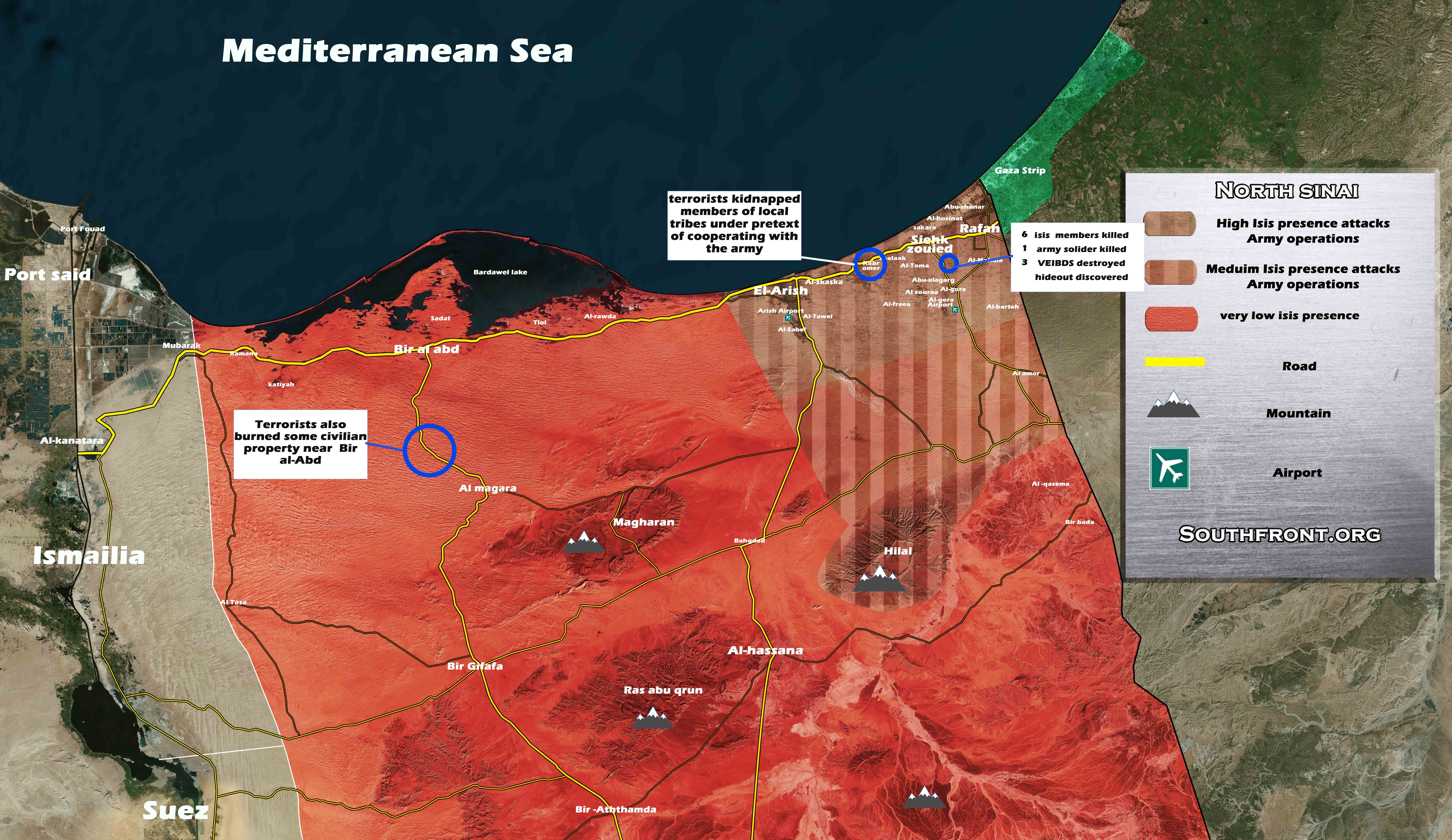 Of Security Situation In Egypt On September Map Video - Map of egypt 2017