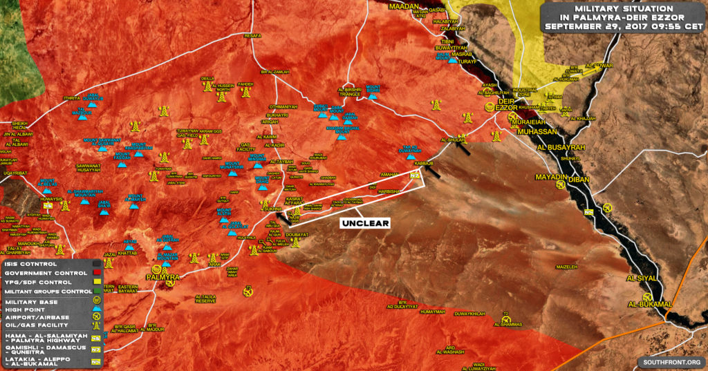 ISIS Storming Strategic Government-Held Town Of Al-Sukhna At Palmyra-Deir Ezzor Highway (Map)